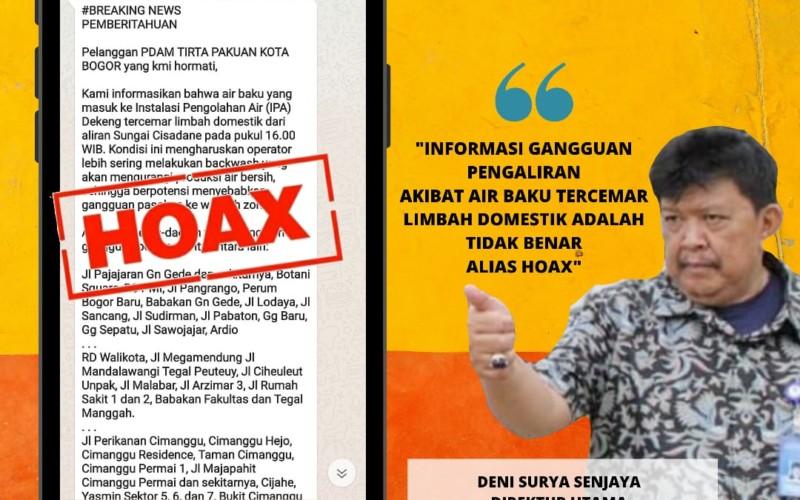 Hoax! Gangguan Pasokan Air Akibat Limbah