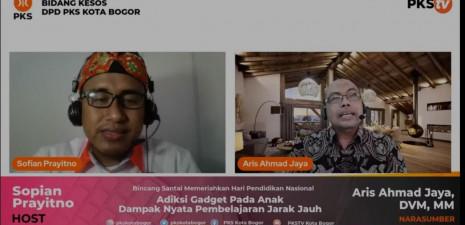 PKS Kota Bogor Adakan Webinar Dalam Rangka Peringatan Hardiknas