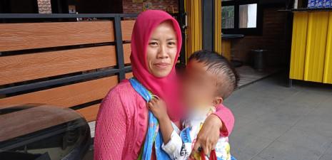 Riski Saputra Bocah Berusia 6 Tahun Warga Pangkaljaya Menderita Penyakit Hidrosepalus.